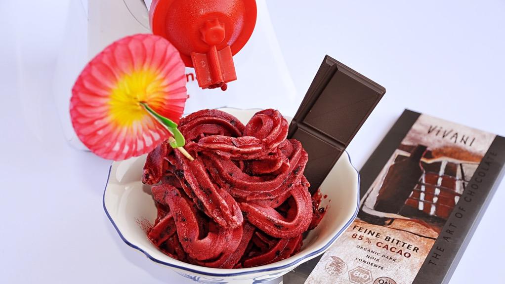 foto by Paolo Cavacece - Gelato (Sorbetto) alle Ciliege e Cioccolato Fondente