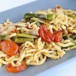 Strozzapreti con Cipollotti e Asparagi
