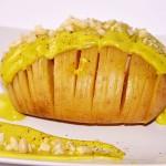 Patata Hasselback con Maionese di Avocado