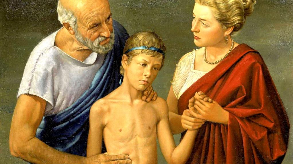 Ippocrate Precursore dei Principi della Vis Medicatrix Naturae, in un Dipinto di Robert Thom