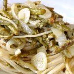 Spaghetti di Riso con Asparagi e Cipollotti