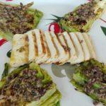 Tagliata di Tofu e Coste di Lattuga Grigliate