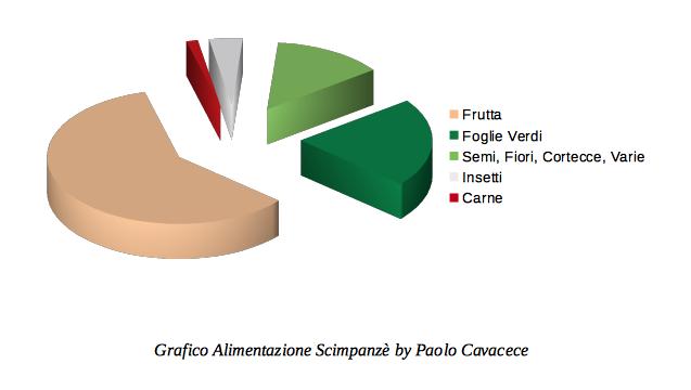 Grafico Alimentazione Scimpanzè