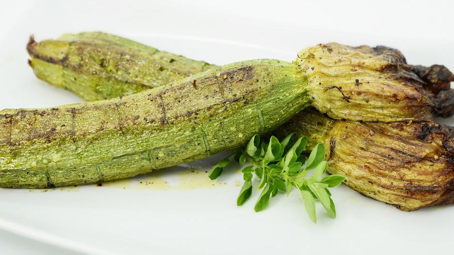 Zucchine con il Fiore Ripieno al Forno